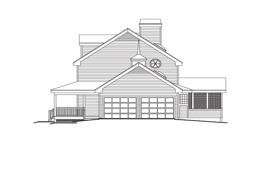 138-1108: Home Plan Right Elevation