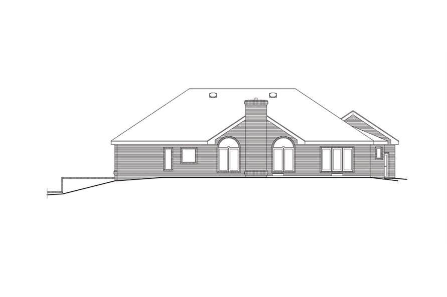 138-1109: Home Plan Rear Elevation