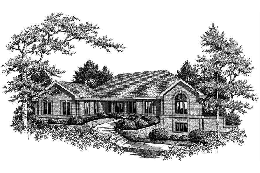 138-1109: Home Plan Rendering