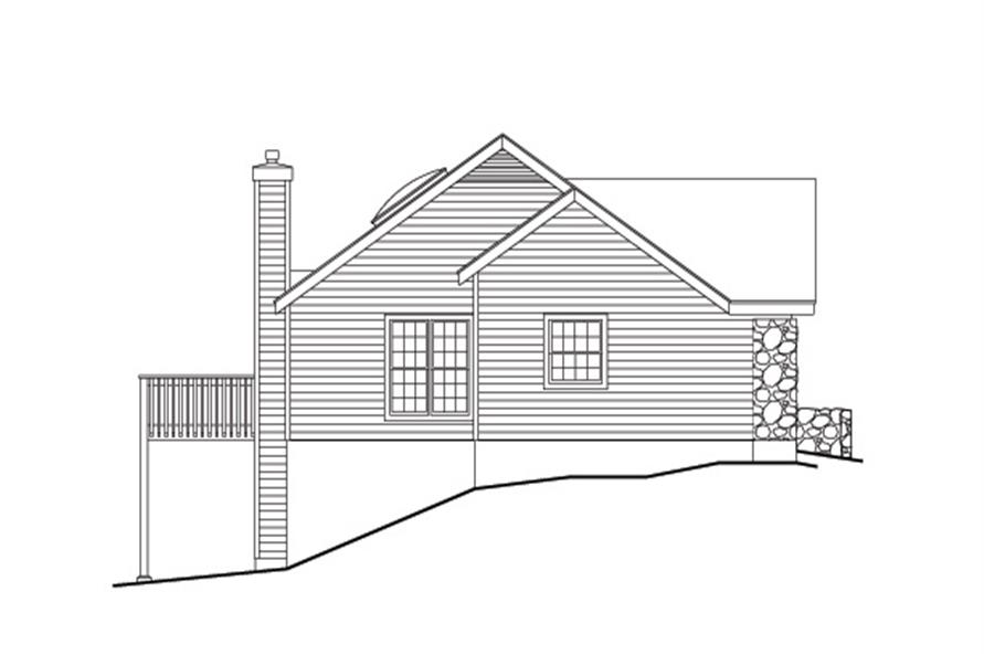 138-1110: Home Plan Left Elevation