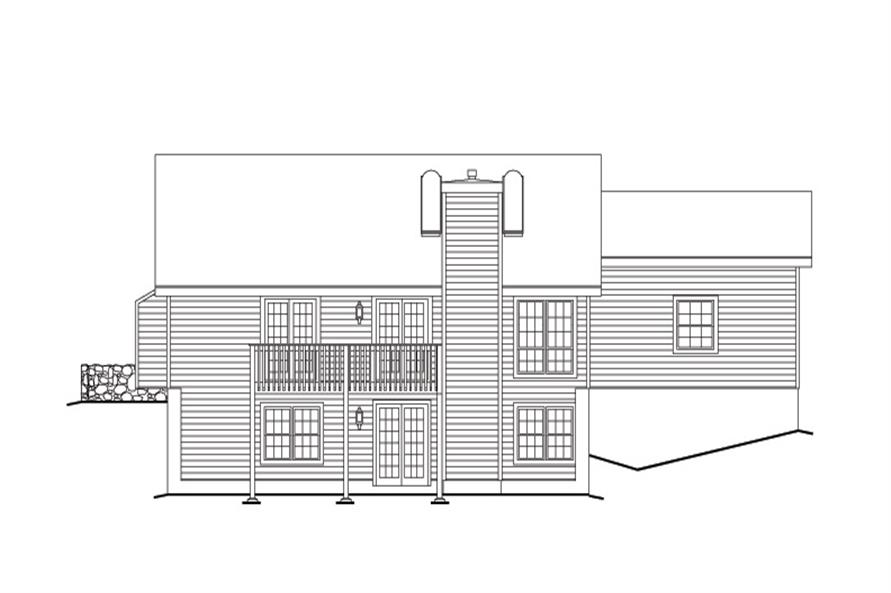 138-1110: Home Plan Rear Elevation
