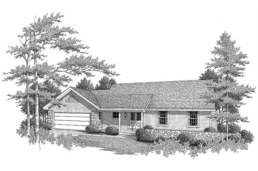 138-1110: Home Plan Rendering