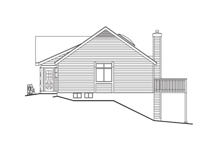 138-1110: Home Plan Right Elevation