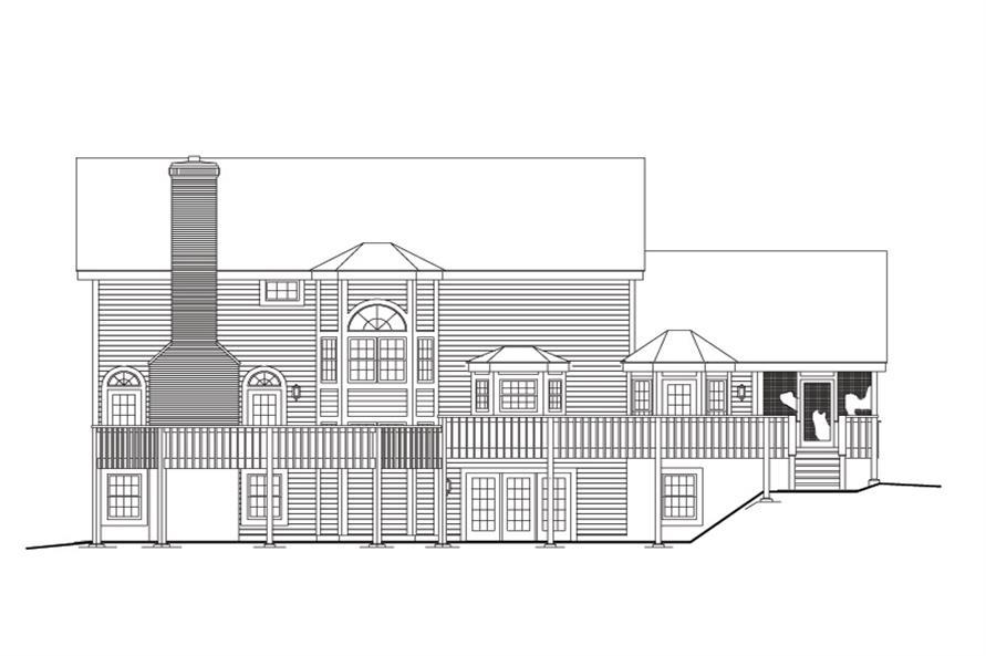 138-1111: Home Plan Rear Elevation