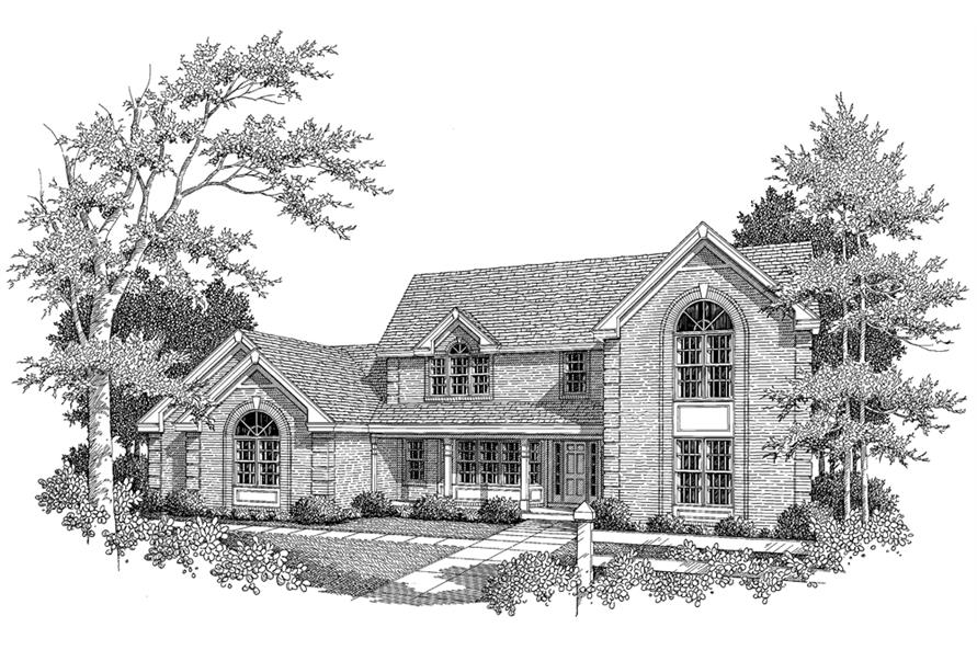 138-1111: Home Plan Rendering