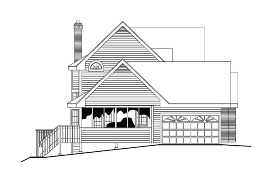 138-1111: Home Plan Left Elevation