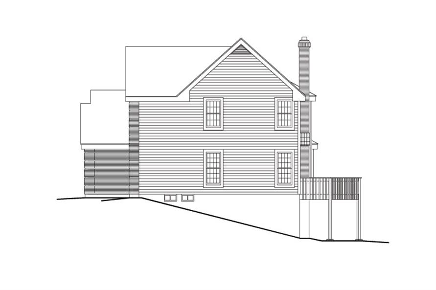 138-1111: Home Plan Right Elevation
