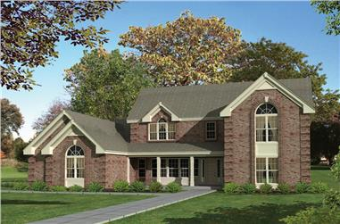 4-Bedroom, 3034 Sq Ft Country Home Plan - 138-1111 - Main Exterior