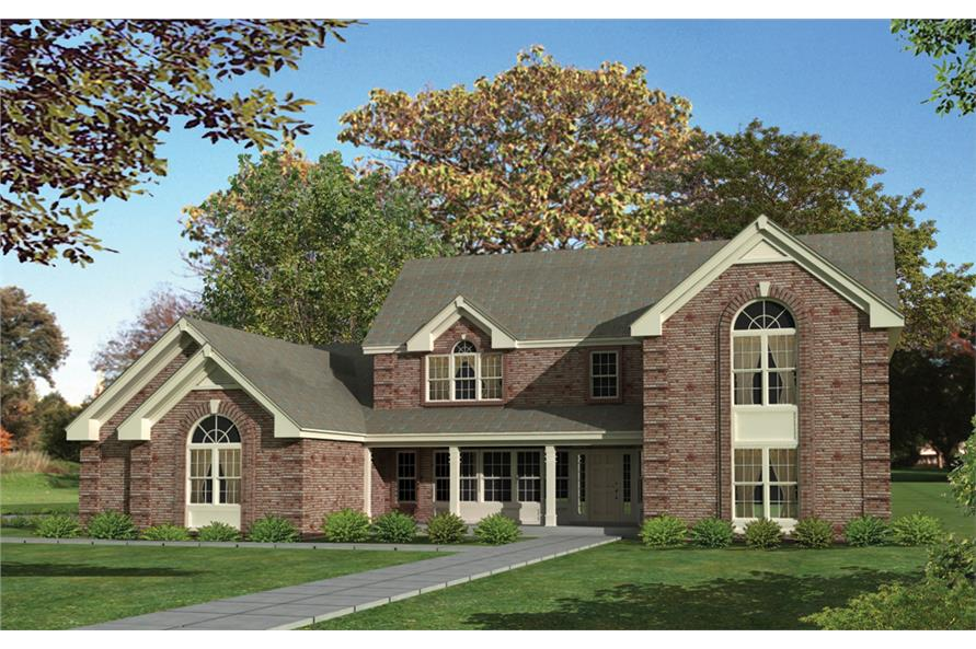 Front elevation of Country home (ThePlanCollection: House Plan #138-1111)
