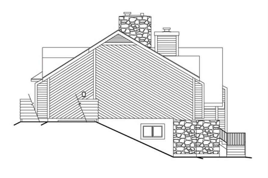 138-1112: Home Plan Left Elevation