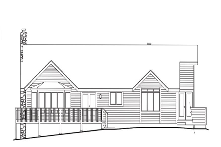 138-1112: Home Plan Rear Elevation
