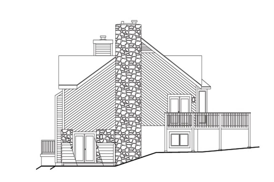 138-1112: Home Plan Right Elevation