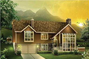 3-Bedroom, 3510 Sq Ft Ranch Home Plan - 138-1112 - Main Exterior