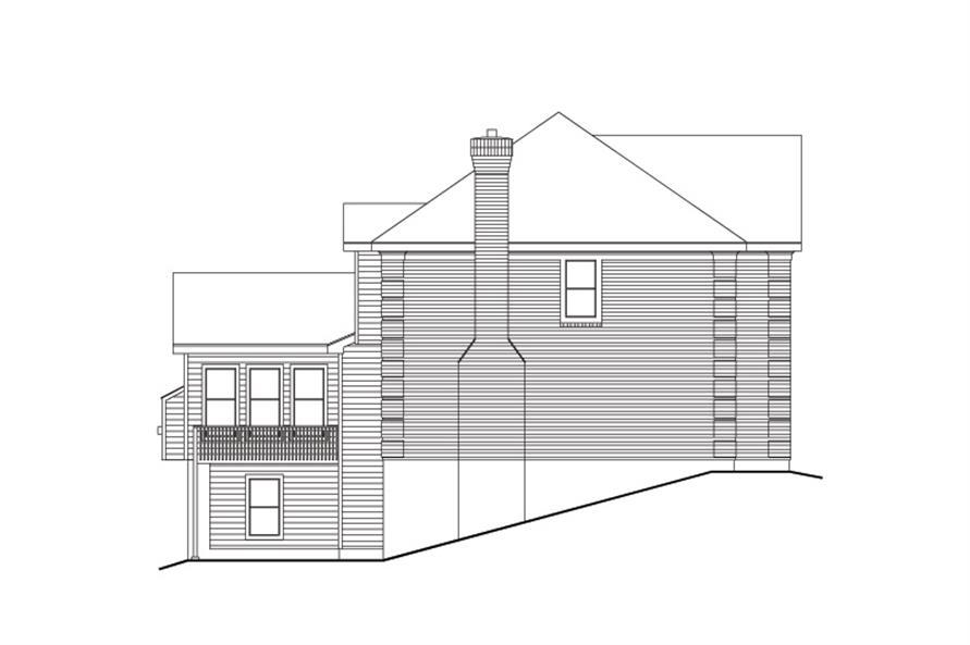 138-1113: Home Plan Left Elevation