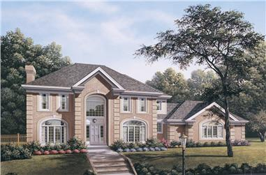 4-Bedroom, 3420 Sq Ft Traditional House Plan - 138-1113 - Front Exterior