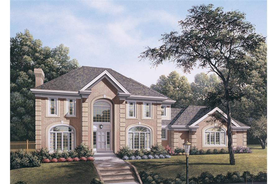 Front elevation of Traditional home (ThePlanCollection: House Plan #138-1113)