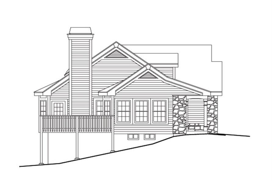 138-1114: Home Plan Left Elevation