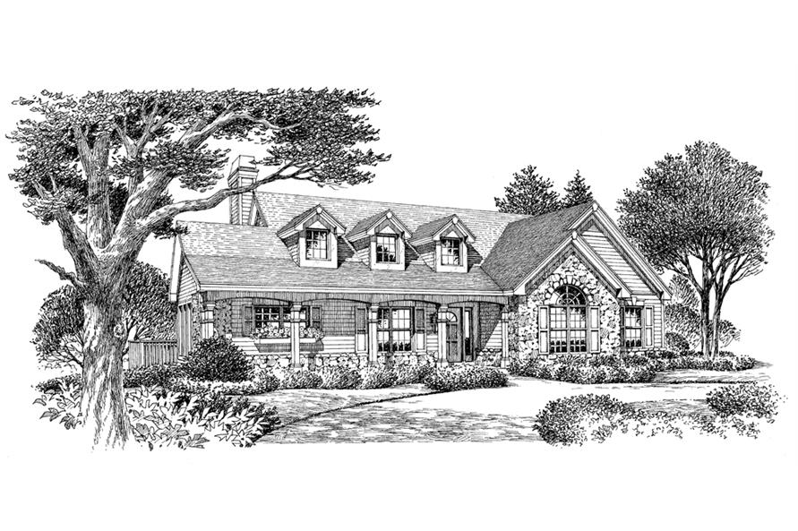 138-1114: Home Plan Rendering