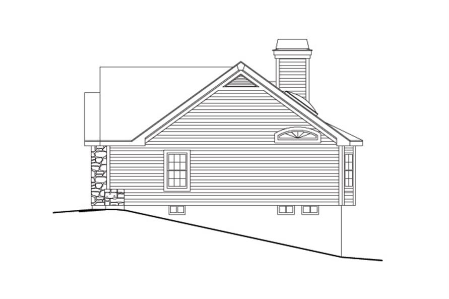138-1114: Home Plan Right Elevation