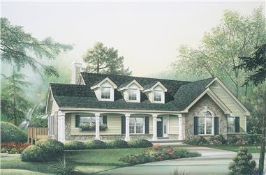 3-Bedroom, 1787 Sq Ft Ranch House Plan - 138-1114 - Front Exterior