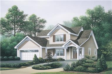 3-Bedroom, 2231 Sq Ft Traditional House Plan - 138-1115 - Front Exterior