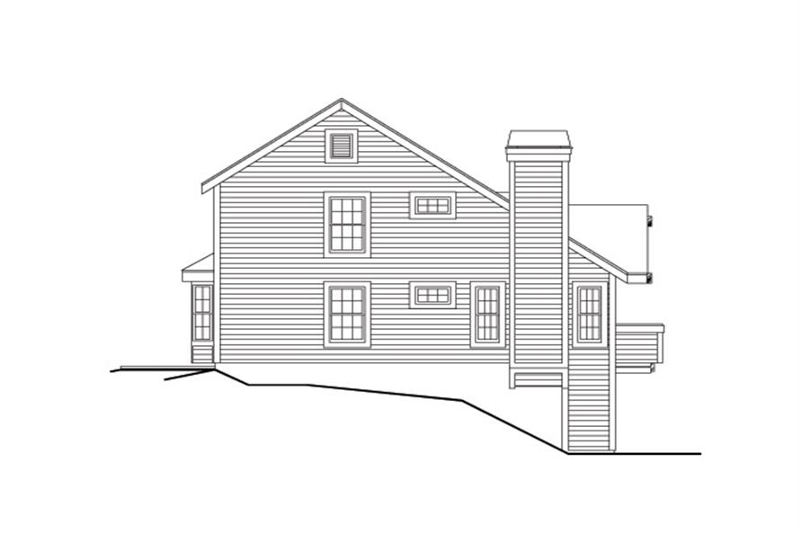 138-1116: Home Plan Left Elevation