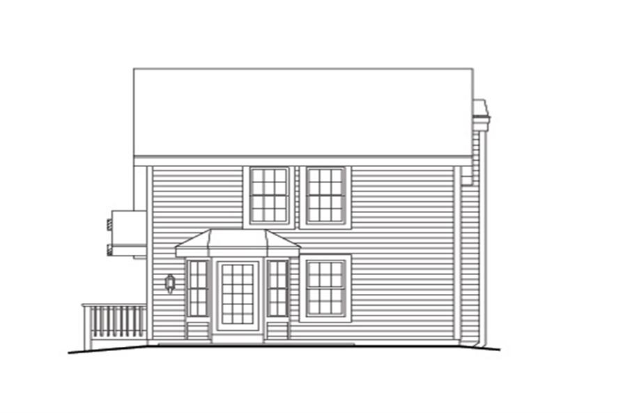 138-1116: Home Plan Rear Elevation