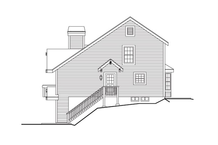 138-1116: Home Plan Right Elevation