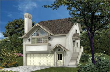 3-Bedroom, 1332 Sq Ft Small House Plans - 138-1116 - Front Exterior