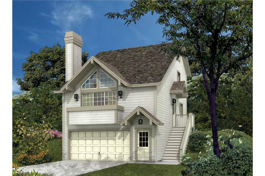 Front elevation of Small House Plans home (ThePlanCollection: House Plan #138-1116)