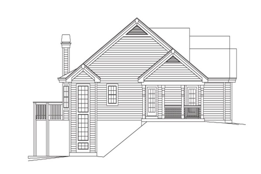 138-1117: Home Plan Left Elevation