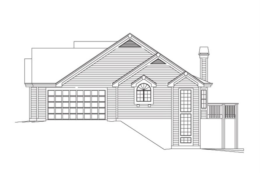 138-1117: Home Plan Right Elevation
