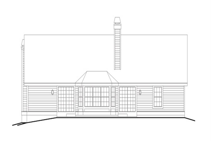 138-1118: Home Plan Rear Elevation