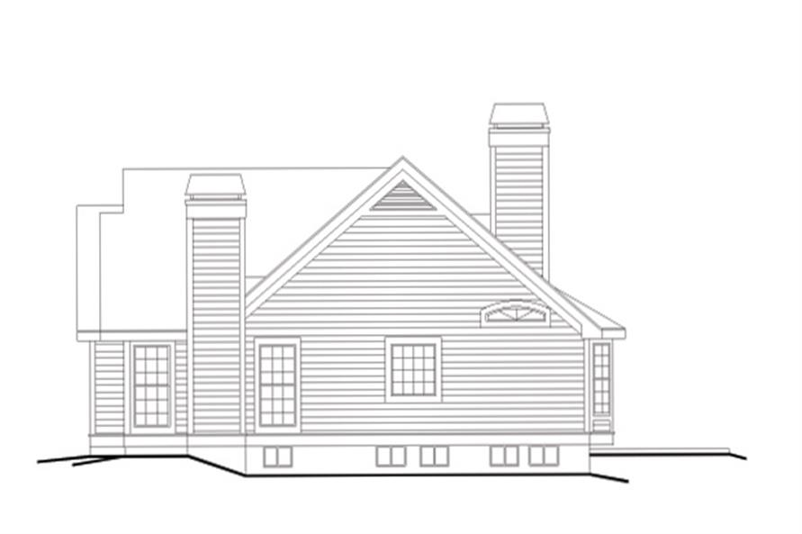 138-1118: Home Plan Right Elevation
