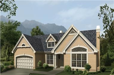 3-Bedroom, 1826 Sq Ft Ranch Home Plan - 138-1118 - Main Exterior