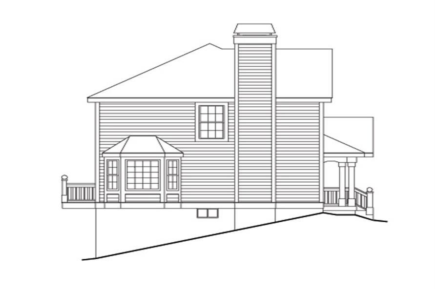 138-1119: Home Plan Left Elevation