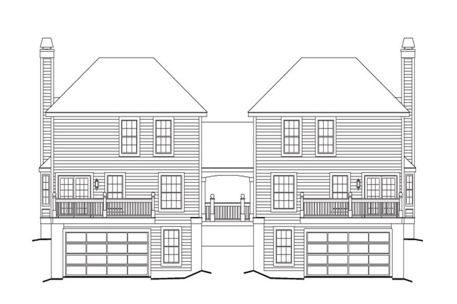 Home Plan Rear Elevation of this 3-Bedroom,3502 Sq Ft Plan -138-1119