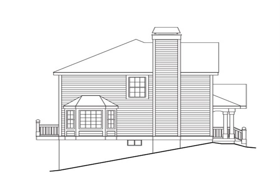 Home Plan Right Elevation of this 3-Bedroom,3502 Sq Ft Plan -138-1119