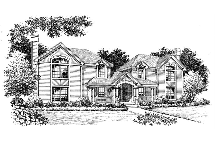 Home Plan Rendering of this 3-Bedroom,3502 Sq Ft Plan -3502