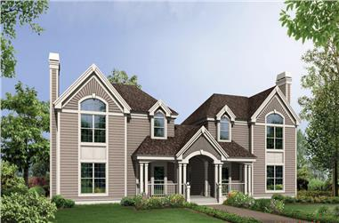 Front elevation of Multi-Unit home (ThePlanCollection: House Plan #138-1119)