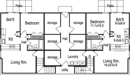 Multi unit house plan 138 1120 1 bedrm 2901 sq ft per for 1120 westchester place floor plan