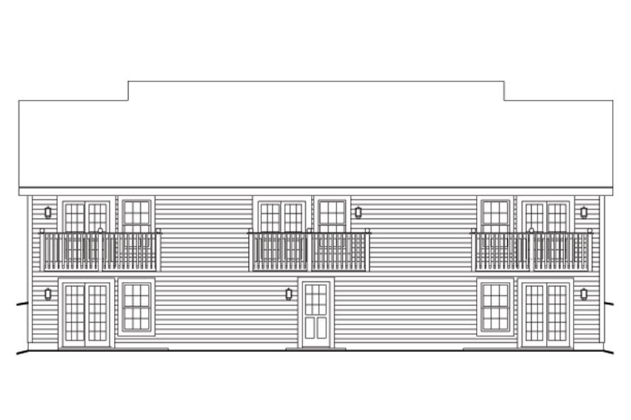 Home Plan Rear Elevation of this 1-Bedroom,2901 Sq Ft Plan -138-1120