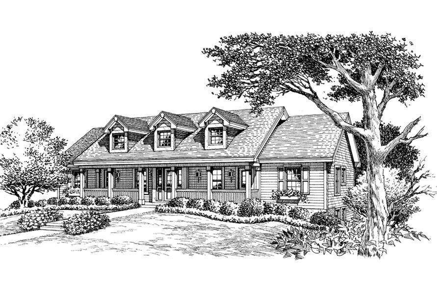 Home Plan Rendering of this 1-Bedroom,2901 Sq Ft Plan -2901