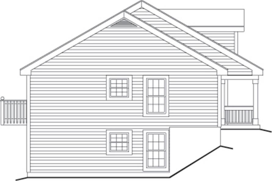 Home Plan Left Elevation of this 1-Bedroom,2901 Sq Ft Plan -138-1120