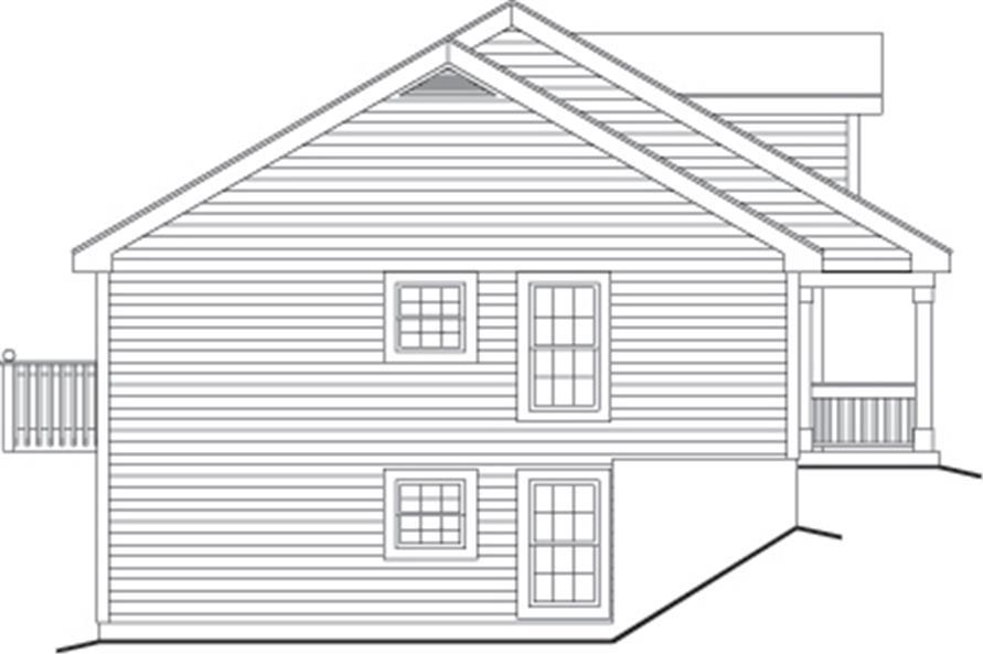 138-1120: Home Plan Left Elevation