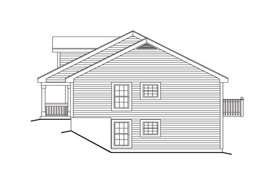Home Plan Right Elevation of this 1-Bedroom,2901 Sq Ft Plan -138-1120