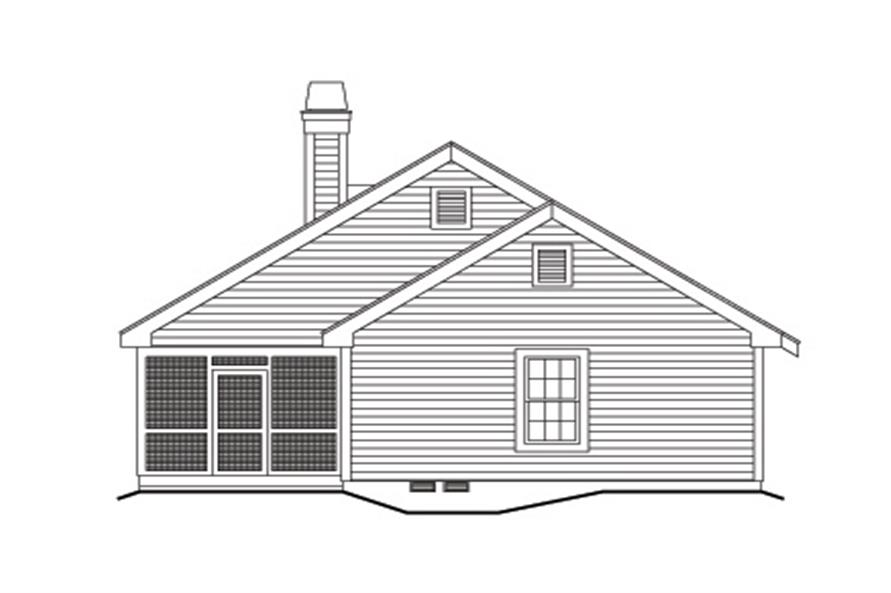138-1121: Home Plan Left Elevation