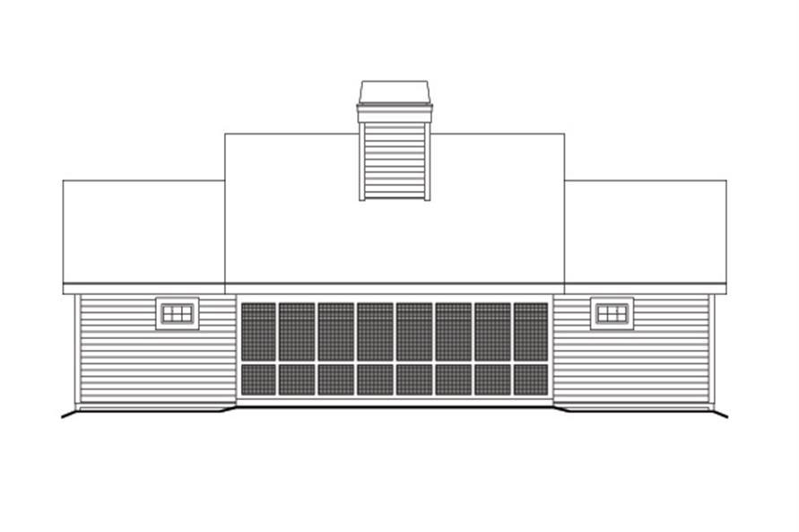 138-1121: Home Plan Rear Elevation
