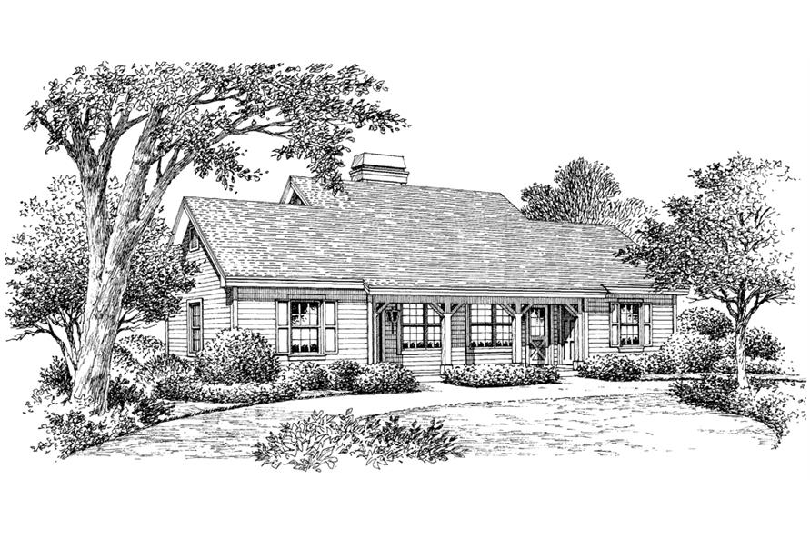 138-1121: Home Plan Rendering