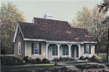 1-Bedroom, 1076 Sq Ft Multi-Unit Home Plan - 138-1121 - Main Exterior